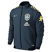 2014-15 Brazil Nike Select Woven Jacket (Navy) - Navy