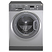 Hotpoint WMAQF641G Aquarius Freestanding Washing Machine, 6Kg Wash Load, 1400 RPM Spin, A+ Energy Rating, Graphite