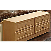 Welcome Furniture Pembroke 4 Drawer Bed Box - Beech