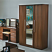 Welcome Furniture Sherwood Tall Single Wardrobe - Walnut