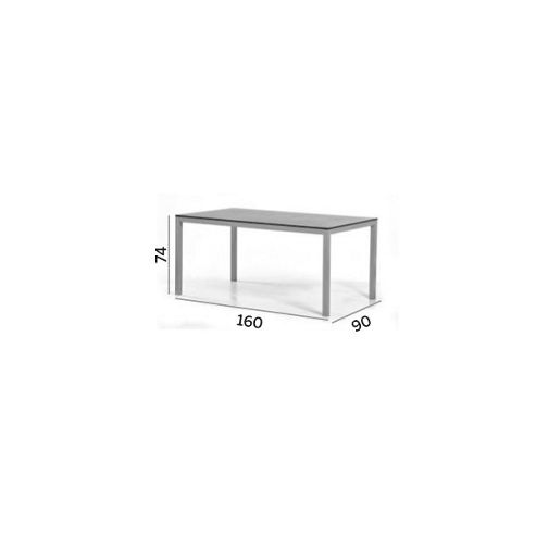 Varaschin Victor Table with HPL Top by Varaschin R and D - 74 cm H x 160 cm W x 90 cm D