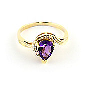 QP Jewellers Diamond & Amethyst Belle Diamond Ring in 14K Gold