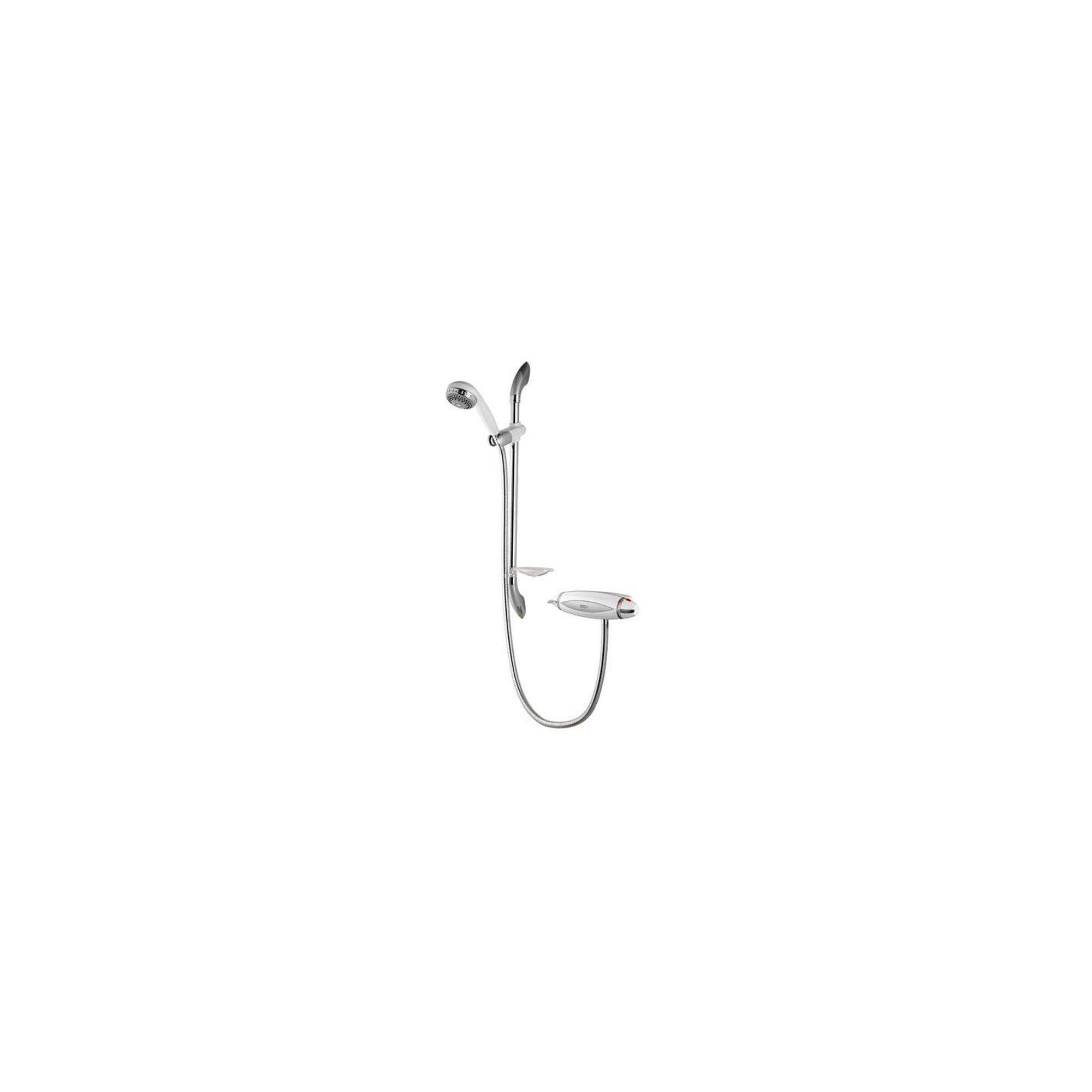 Aqualisa Aquarian Thermo Exposed Shower Valve with Adjustable Shower Head White / Chrome at Tesco Direct