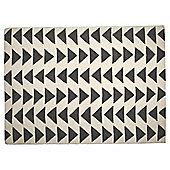 Triangle Wool Rug 80 x 150cm, Grey