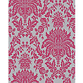 Superfresco Elizabeth Wallpaper - Pink and Silver