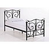 Home Zone Florence Single Bed Frame - Black
