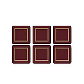 Pimpernel Classic Burgundy Coasters - Set of 6