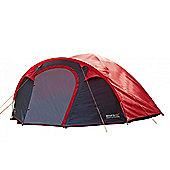 Regatta 4-Man Kivu Dome Outdoor Tent Red