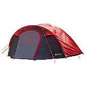 Regatta 4-Man Kivu Dome Outdoor Tent Red