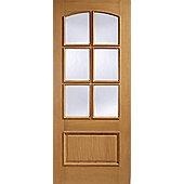 LPD Doors Menorca Oak Glazed Interior Door - 198.1 cm H x 76.2 cm W x 3.5 cm D