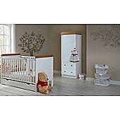 OBaby Winnie the Pooh Cot Bed/Drawer/Single Wardrobe