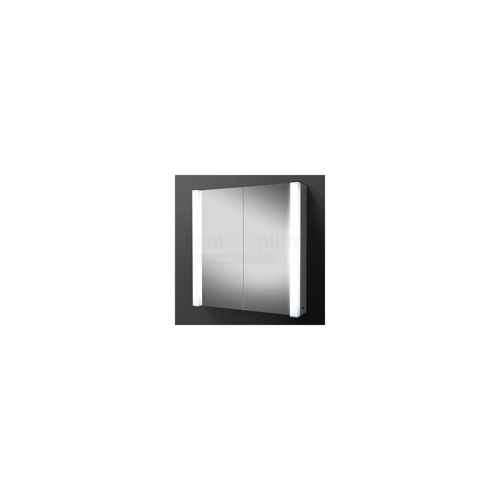 HiB Photec Aluminium Bathroom Cabinet 750mm High x 725mm Wide x 155mm Deep