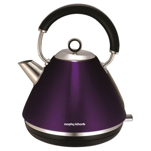 buy morphy richards pyramid kettle 1 5l purple from our. Black Bedroom Furniture Sets. Home Design Ideas