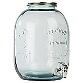 Recycled Glass 12.5L Jam Jar Drinks Dispenser