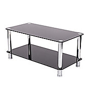LEVV Coffee Table in Piano Black with Chrome Legs