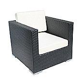 Cozy Bay Oxford Single Armchair in Black