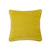 Linea Lime Plain Chenille Cushion New