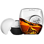 Final Touch On The Rock Spirit Whisky Glass and Ice Cube Ball Set