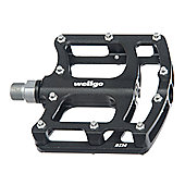 Wellgo B124 CNC Platform Sealed Pedal - Black