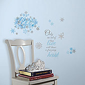 Disney Frozen Let It Go Glitter Decals 26 Easy to Apply Stickers