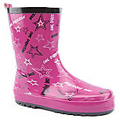 Character Girls One Direction Pink Wellington Boots - Pink