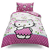Hello Kitty Floral Single Duvet Set TESCO EXCLUSIVE