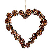 Natural Pine Cone Heart Hanger Christmas Decoration