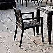 Varaschin Altea Dining Armchair by Varaschin R and D (Set of 2) - Bronze - Panama Orange