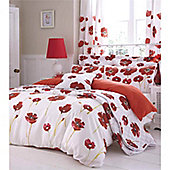 Catherine Lansfield Home Poppies Cotton Rich Fully Lined Curtains - 66x72 inches