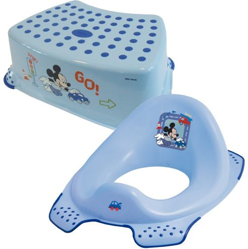 Buy disney mickey mouse toddler toilet training seat step stool combo blue from our toilet - Mickey mouse stool ...