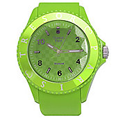 Tresor Paris Watch 018792 - Stainless Steel Bezel - Silicone Strap - Diamond Set Dial - 44mm - Green