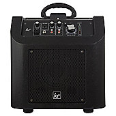 Kitsound Kingston Portable Wireless PA System with Lightning Dock, Black