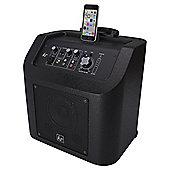 Kitsound Kingston Portable Wireless PA System with Lightning Dock, White