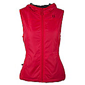 Kent Womens Water Resistant Fleece Lined Comfortable Walking Hiking Zipped Gilet - Red
