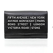Personalised Black Destinations Leather Purse