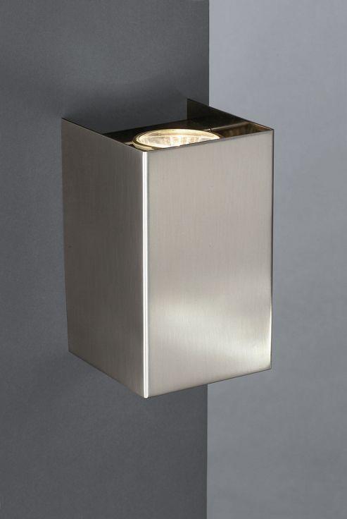 Massive Cube Two Light Wall Bracket in Matt Chrome