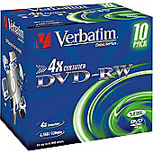 VERBATIM DVD-RW 4,7GB 4X 10PC JC SCRATCH