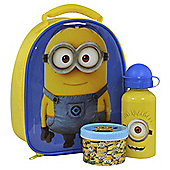 Despicable Me Minions Lunch Bag, Water Bottle and Snack Pot Set