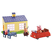 Peppa Pig School And Family Car Playset
