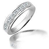 Jewelco London 18 Carat White Gold 1ct Diamond Ring