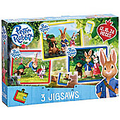 Peter Rabbit 3 in a Box Jigsaws Puzzles