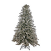 8ft Christmas Tree, Flocked Braemar with Cones