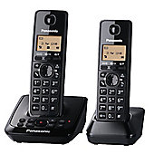 KXTG2722EB Twin DECT Cordless Telephones with Answer Machine in Black