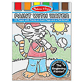 Melissa And Doug Paint with Water Kids' Art Pad Blue