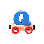 Bigjigs Rail BR117 Name Letter Q (Colours Vary)