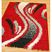 Origin Red Cosmo Red Rug - 160cm x 120cm (5 ft 3 in x 3 ft 11 in)