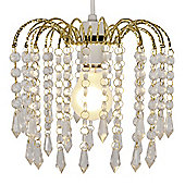 Myra Acrylic Crystal Ceiling Pendant Light Shade Chandelier in Gold