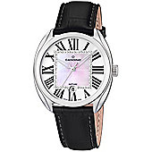 Candino Ladies Black Leather Stone Set Watch C4463/3