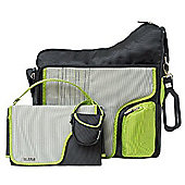 JJ Cole System 180 Changing Bag (Graphite/Green)