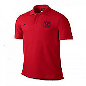 2013-14 Barcelona Nike Core Polo Shirt (Red) - Red